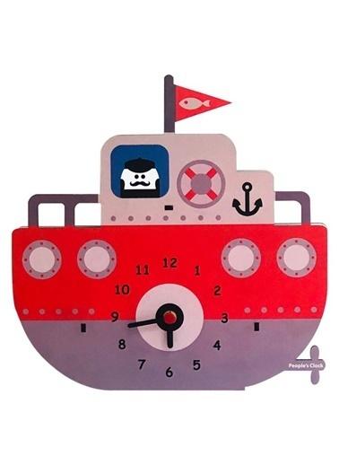 Peoples Clock Tekne Duvar Özel  Tasarım Saati Renkli